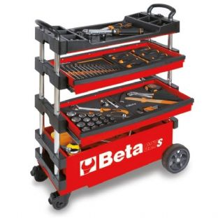 Beta C27S-R Folding Tool Trolley For Outdoor Jobs (Red)